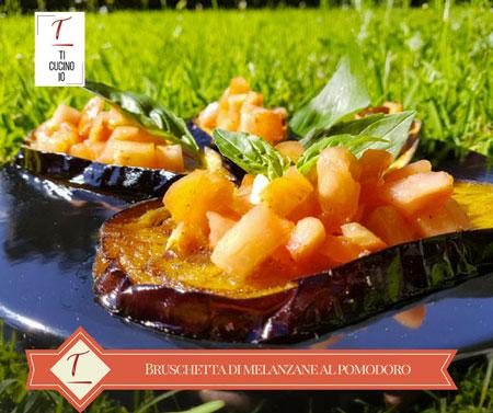Bruschetta di melanzane al pomodoro